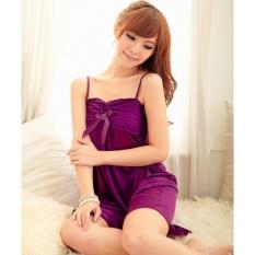 Đầm ngủ phi phối băng ren ngực Chodeal24h (tím)