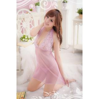Đầm ngủ voan ren Chodeal24h (hồng) thumbnail