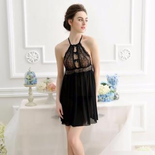 Đầm Ngủ Voan Thun Ren Hoa Ngực Quyến Rủ Chodeal24h CDAN59 - Đen thumbnail