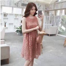 Mua Đầm Nữ Đầm Lưới Theu Hoa Lot Voan Lụa Cong Chua Mau Hồng Rẻ Vietnam