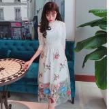 Đầm Nữ Ren Xoe Theu Hoa Cao Cấp Tiểu Thanh Shop Mau Trắng Oem Rẻ Trong Hồ Chí Minh