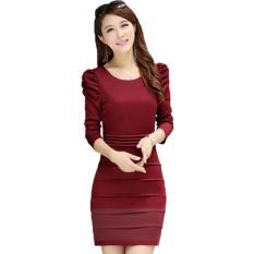 Cửa Hàng Đầm Om Xếp Ly Tay Nhun Mau Đỏ Đo Trong Vietnam