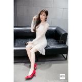 Giá Bán Đầm Ren Body Đuoi Ca Đẹp Dressie Db0113B Trắng Hinh Thật Vietnam