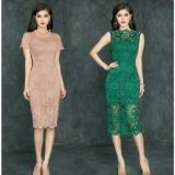 Mã Khuyến Mại Đầm Ren Body Tay Ngắn Cổ Om Tamv2422 Xanh Rẻ