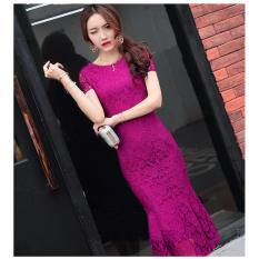 Đầm Ren Dang Dai Dự Tiệc Guzy Tim 200 Gs2323Tim Hồ Chí Minh