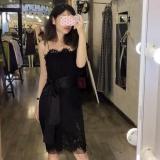 Bán Đầm Ren Nữ Body Phối Nơ Quyến Rũ Fashion Shop Mau Đen Nguyên