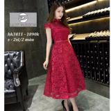 Giá Bán Đầm Ren Xoe Cổ Tiều Hana Fashion Đỏ Đo