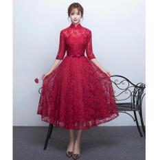 Cửa Hàng Đầm Ren Xoe Cổ Tiều Hana Fashion Đỏ Đo Hồ Chí Minh