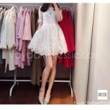 Mã Khuyến Mại Đầm Ren Xoe Cong Chua Dự Tiệc Xinh Xắn Dressie L015 Trắng Vietnam