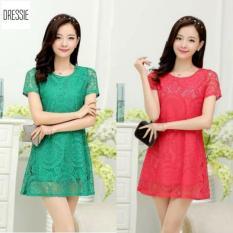 Đầm Suong Chữ A Form Rộng Đẹp Cao Cấp Dressie L043A Xanh La Vietnam