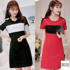 Đầm Suong Cong Sở Nữ Đẹp Thời Trang Cao Cấp Dressie Ku1041A Trắng Đen Vietnam Chiết Khấu