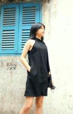 Giá Bán Đầm Suong Cột Nơ Cổ Xavia Clothes Daisy Đen Xavia Clothes Tốt Nhất