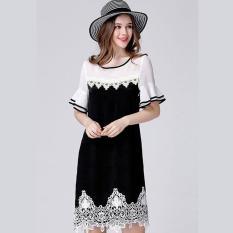 Ôn Tập Trên Đầm Suong Tay Loe Phối Ren Cao Cấp D390