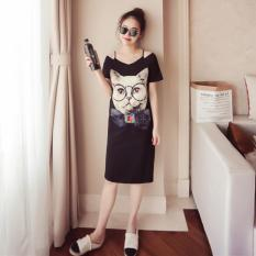 Bán Đầm Suong Thời Trang Nhập Khẩu Meo Xinh Xắn Phong Cach Han Quốc Hhn 8836 Đen Oem Rẻ