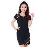 Mua Đầm Suong Vien Phối Day Keo Misa Fashion Ms120 Đen Rẻ Hồ Chí Minh