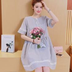 Đầm (Váy) Bầu Kiểu Dáng Hàn Quốc Kẻ Sọc