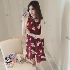 Chiết Khấu Đầm Voan Suong Hoa Lily Dn019 Đỏ Mai Hoa Trong Vietnam
