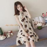 Đầm Voan Suong Hoa Lily Dn019 Kem Trong Vietnam