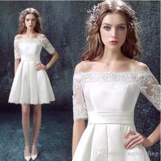 Đầm Xoe Bẹt Vai Phối Lưới Hana Fashion Trắng Oem Chiết Khấu