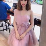 Đầm Xoe Cong Chua Cup Ngực 1 Vai Đinh Hoa Hồng Hana Fashion Mới Nhất