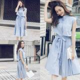 Bán Mua Đầm Nữ Xoe Thắt Nơ Eo Yu Dress Fashion Shop Mau Xanh Hồ Chí Minh