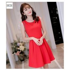 Đầm Xoe Đẹp Cao Cấp Thời Trang Thu Đong 2017 Dressie Dx0938B Đỏ Vietnam Chiết Khấu