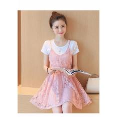 Đầm Xoe Ren Kem Ao Thun Xinh Xắn Hana Fashion Hồng Nhạt Hồ Chí Minh Chiết Khấu