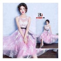 Mã Khuyến Mại Đầm Xoe Voan Kiếng Hoa Rơi Hana Fashion Oem