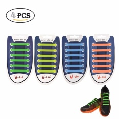 Hình ảnh Dây giày cao su VTIE Shoelace Mặt Trơn - Màu Xám Bộ 12 dây