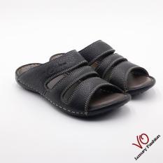 Chiết Khấu Dep Da Bo Quai Ngang Mau Đen Vo Shoes