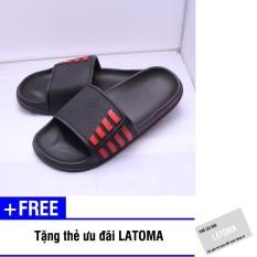 Dép nam quai ngang kiểu dáng thể thao thời trang Latoma TA0653 (đen)+ Tặng kèm thẻ ưu đãi Latoma