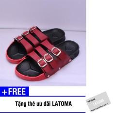 Dép quai ngang nữ GW thời trang cao cấp Latoma TA0681 (Đỏ)+ Tặng kèm thẻ ưu đãi Latoma