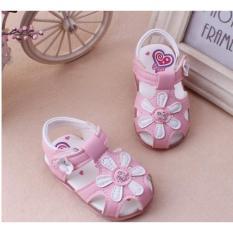 Hình ảnh Dép sandal bông hoa có đèn bé gái 1-3 tuổi