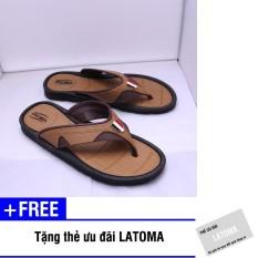 Hình ảnh Dép xỏ ngón nam Duwa thời trang cao cấp Latoma TA0721 (Nâu)+ Tặng kèm thẻ ưu đãi Latoma