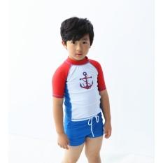 Hình ảnh Đồ bơi bé trai rời họa tiết mỏ neo - kèm nón
