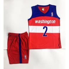 Hình ảnh Đồ quần áo bóng rổ trẻ em WASHINGTON đỏ