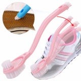 Double long handle shoe brush cleaner brushes Washing Toilet Lavabo Pot Dishes cleaning tools - intl