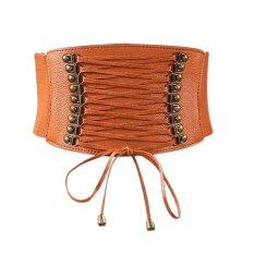 Eozy 2017 Fashion Ladies Women Pu Leather Width Belts Korean Style Female Casual Waistband Waist Belt Girdle (brown) - Intl By Eozysunshine.