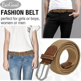 Cửa Hàng Esogoal Braided Stretch Belt Canvas Fabric Woven Elastic Casual Belt For Men And Women Khaki Intl Trực Tuyến