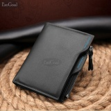Cửa Hàng Esogoal Business Men Wallets Solid Man Pu Leather Purse Long Bifold Wallet Portable Cash Coin Purses Zipper Wallets Male Clutch Bag Black Intl Esogoal Trực Tuyến