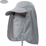 Mua Esogoal Summer Sun Hat Protection Caps Flap 360°Outdoor Fishing Hat With Removable Neck Face Flap Cover Upf 50 Cap For Men And Women Grey Intl Trực Tuyến Rẻ