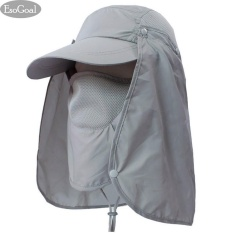 Mã Khuyến Mại Esogoal Summer Sun Hat Protection Caps Flap 360°Outdoor Fishing Hat With Removable Neck Face Flap Cover Upf 50 Cap For Men And Women Grey Intl Trong Trung Quốc