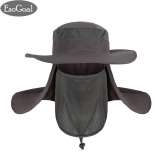 Esogoal Summer Sun Hat Protection Caps Flap 360°Outdoor Fishing Hat With Removable Neck Face Flap Cover Upf 50 Cap For Men And Women(Dark Grey) Intl Trong Trung Quốc