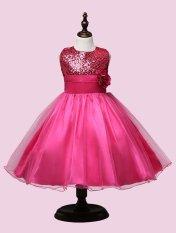 Hình ảnh Fantastic FlowerFlower Đầm Bé Gái Công Chúa Dự Tiệc Cưới Trẻ Em Trang Phục Cho Bé Gái Quần Áo Trẻ Em Quần Áo-màu hồng)-intl