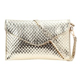 Fashion Lady Evening Clutch Shoulder Bag Golden Intl Vakind Chiết Khấu