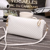Fashion Women Leather Clutch Shoulder Messenger Evening Bag Fish Scale Handbag White Intl Mới Nhất