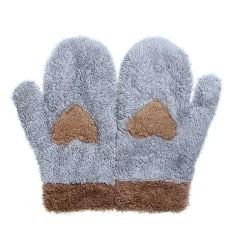 Giá bán Fashion Women Love Heart Plush Winter Snow Soft Warm Full finger Mittens Gloves - intl