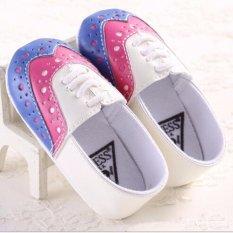 Giá bán Ngoại thương sỉ cho bé tập đi giày bé đế mềm giày 0-1 tuổi công chúa giày nóng XANH DƯƠNG -quốc tế