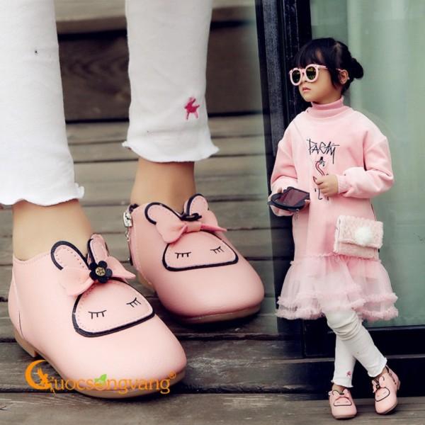 Giá bán Giày bé gái đẹp giày đi học bé gái hình thỏGLG064