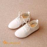 Giày bé trai giày da bé trai màu trắng công tử GLG037 trắng
